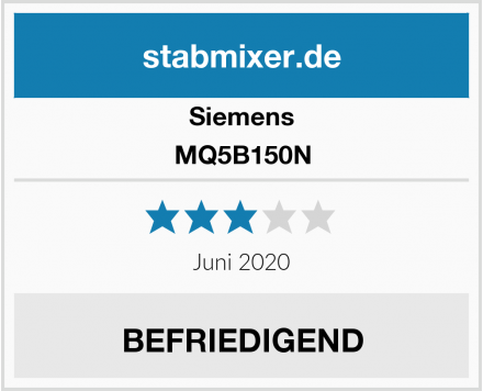 Siemens MQ5B150N Test