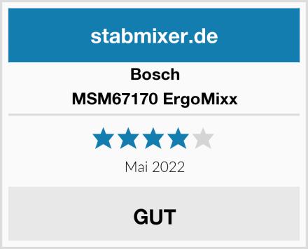 Bosch MSM67170 ErgoMixx Test