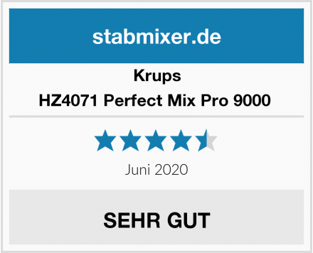 Krups HZ4071 Perfect Mix Pro 9000  Test