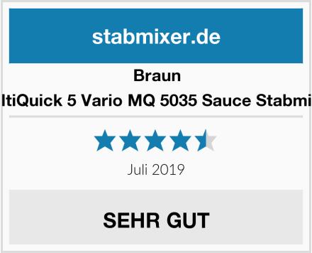 Braun MultiQuick 5 Vario MQ 5035 Sauce Stabmixer Test