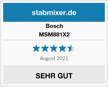 Bosch MSM881X2 Test